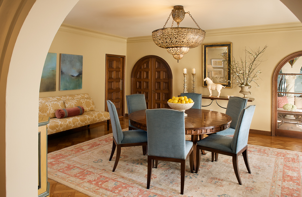 Before and After - Mediterranean Dining Room Dazzles | San ...
