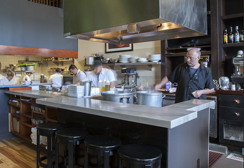 Modern style interior design, remodeled restaurant commercial space Oakland Piedmont Lamorinda