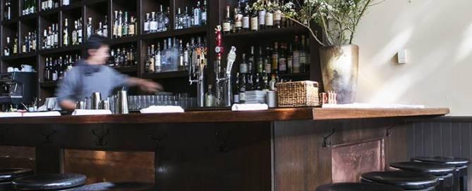 A modern style, fully redesigned, remodeled interior designed restaurant space Piedmont Oakland Lamorinda.