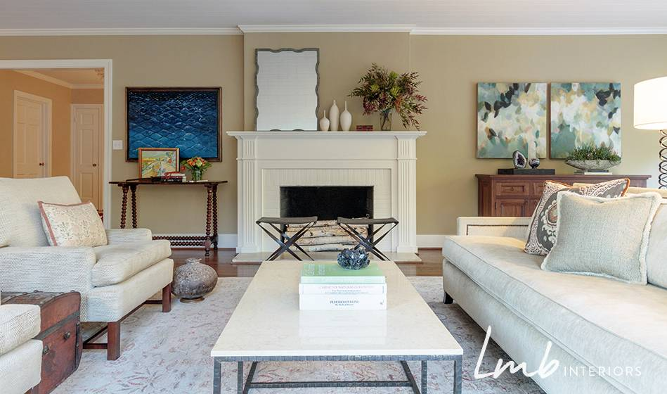 A modern style, interior designed, remodeled living room in a California bungalow, Piedmont Oakland Lafayette.