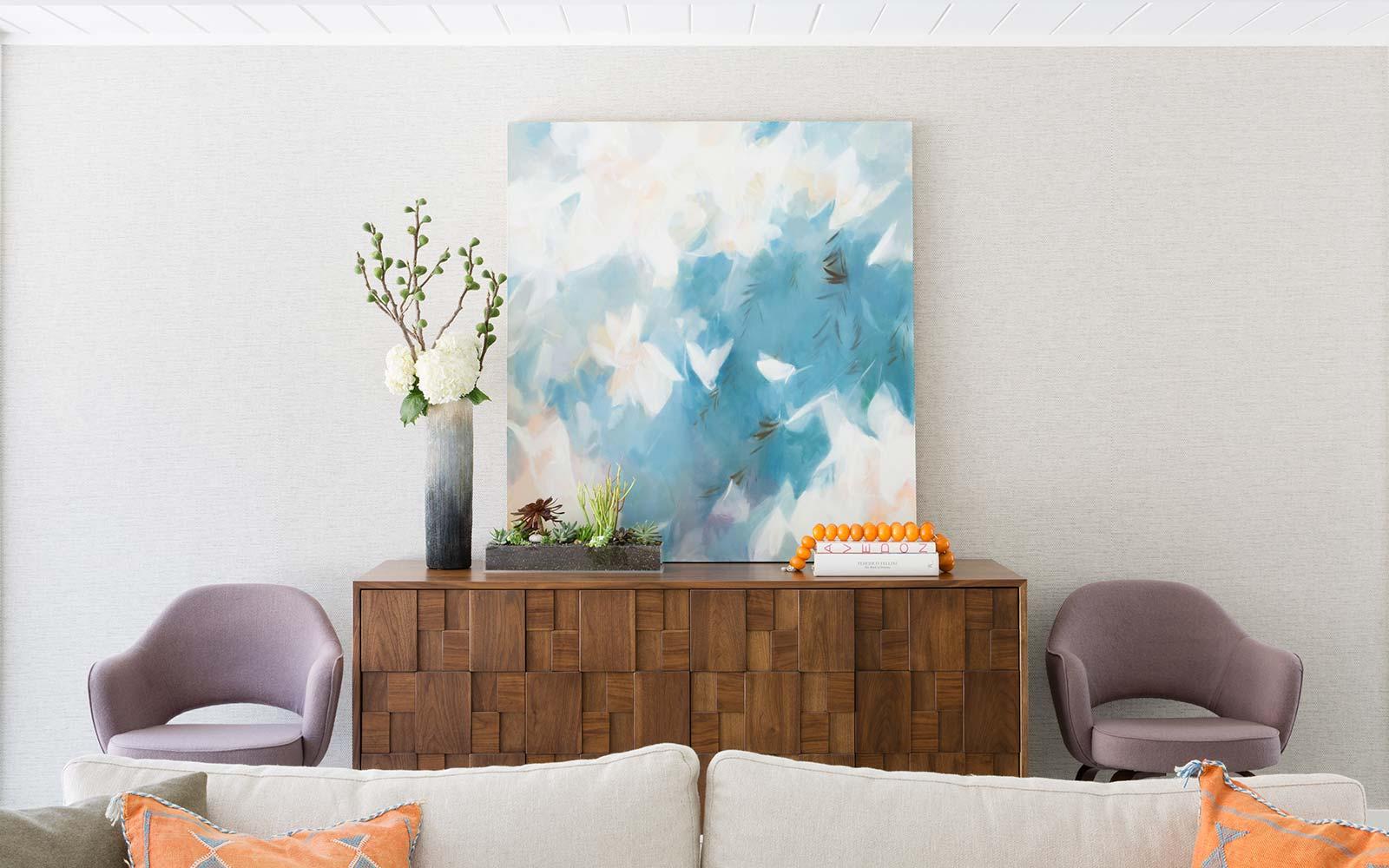Contemporary interior design of Eichler by Menlo Park interior designer.