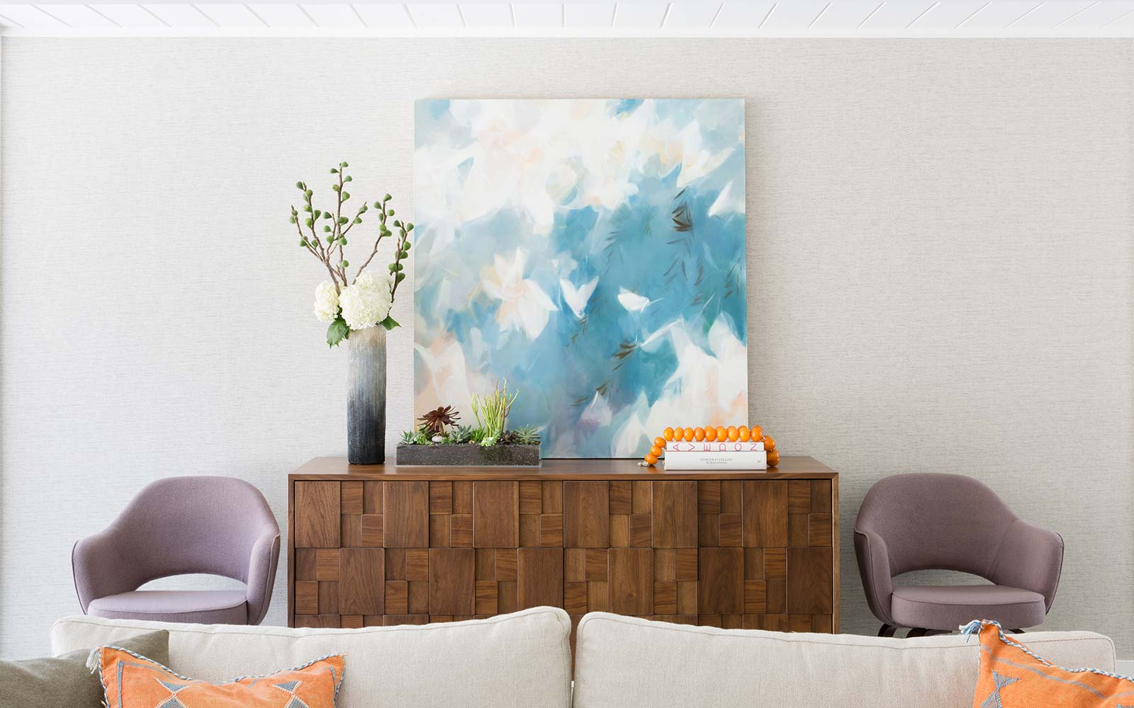 Contemporary interior design of Eichler by Menlo Park interior designer.