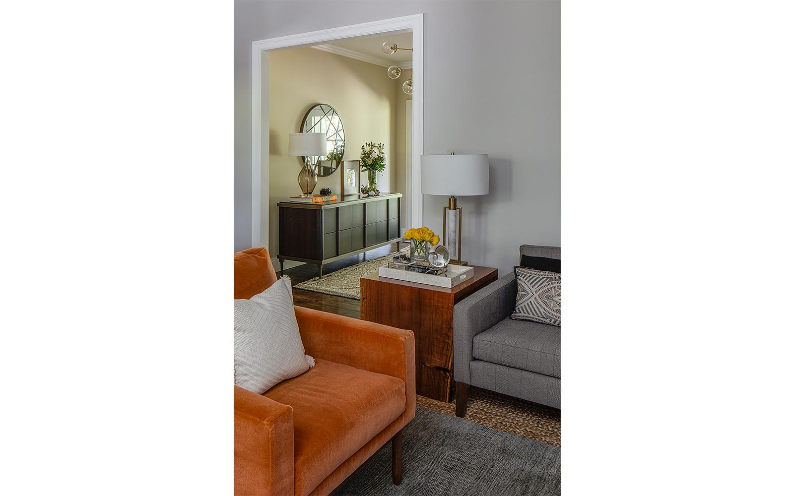 Mad Men Inspired Living Room Detail