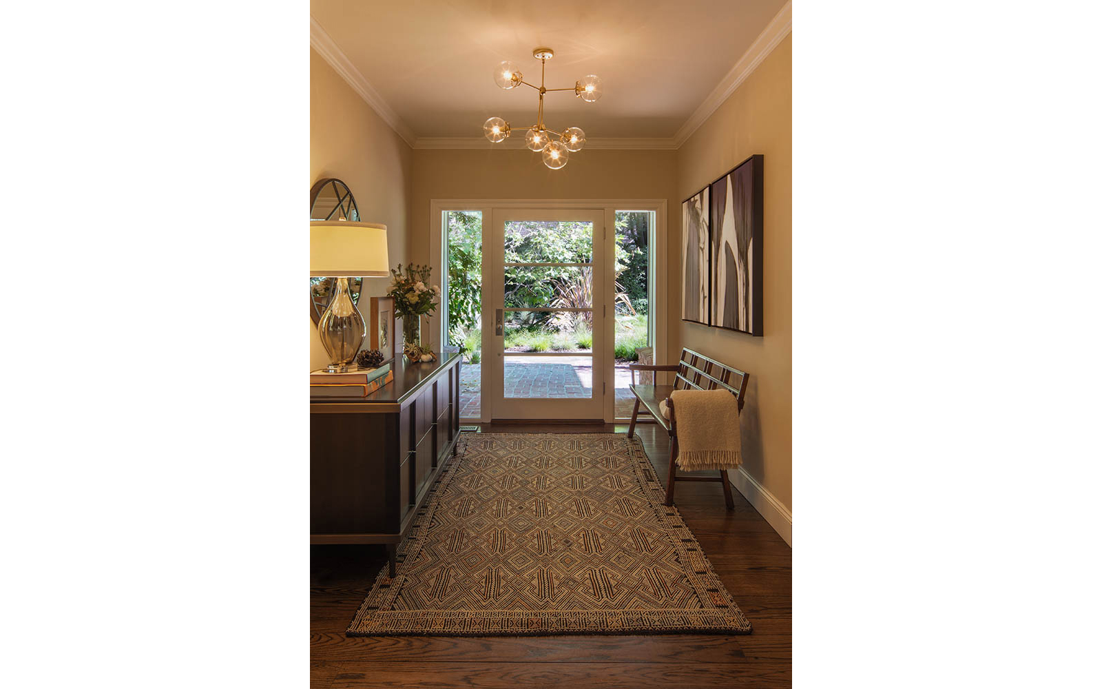Entry Hall Chandelier Modern Ranch Style Home Decor
