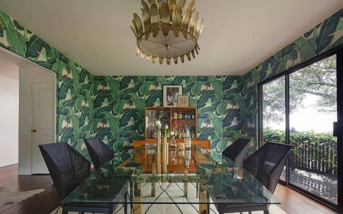 Mad glam interior design for dining room, Piedmont high end design.