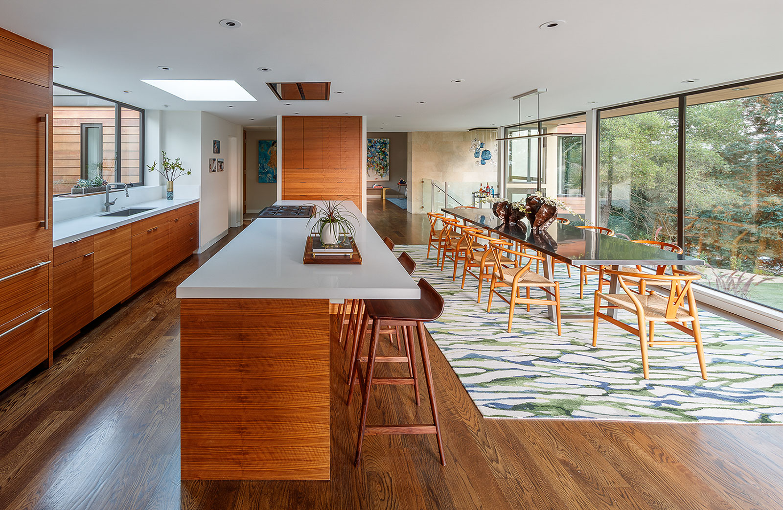 Mid century modern interior design kitchen from award-winning interior designer.
