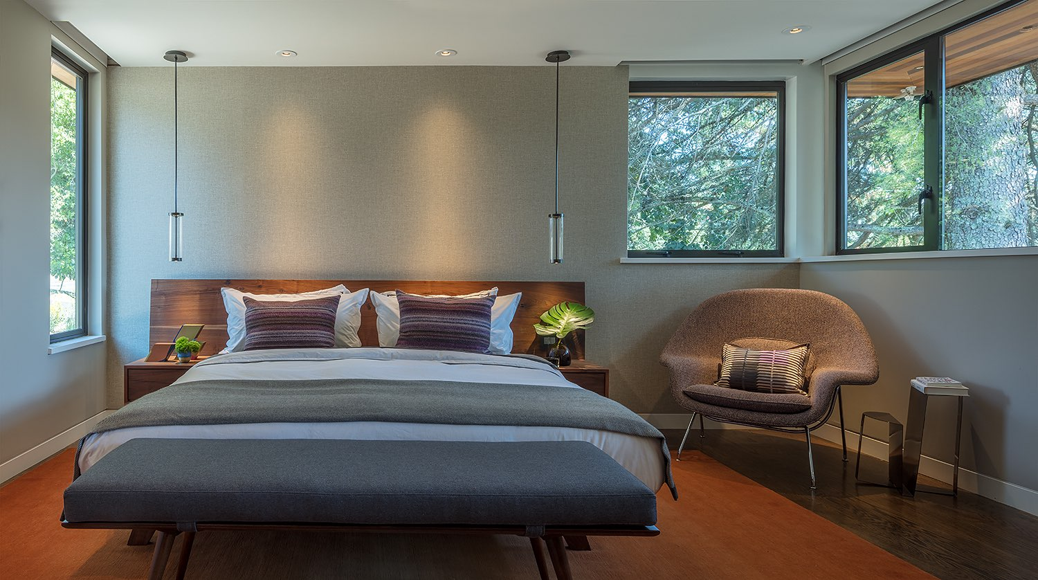 Interior Design Master Bedroom Skyline Drive Oakland, by LMB Interiors