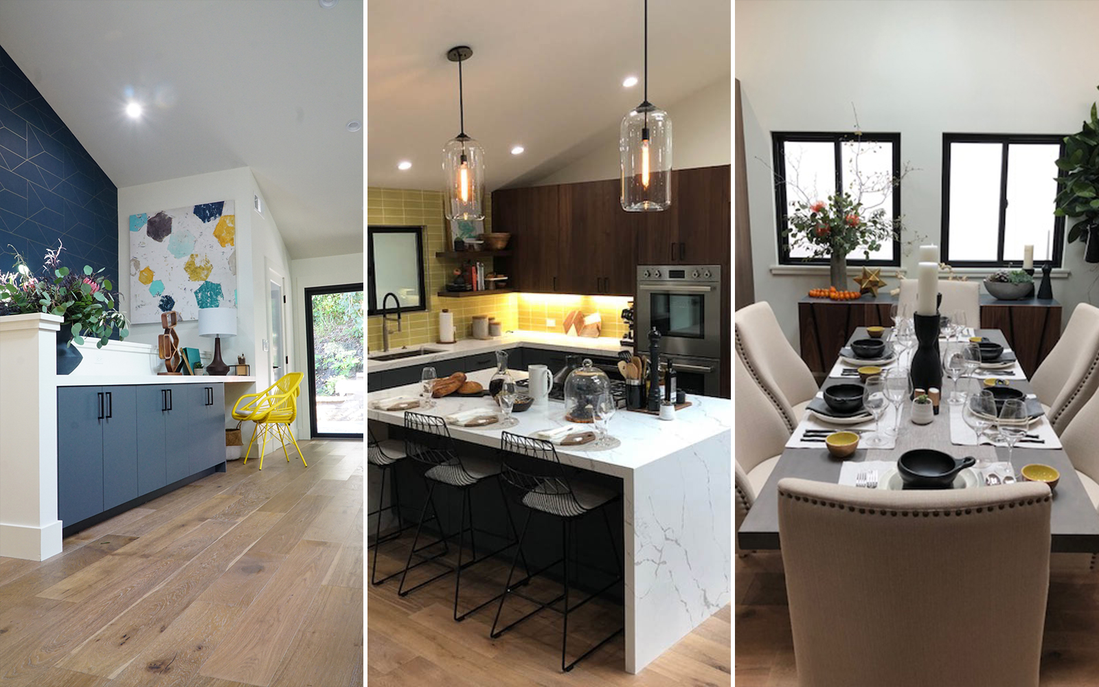 A styled kitchen and dining area for season 6 of Brother vs Brother.