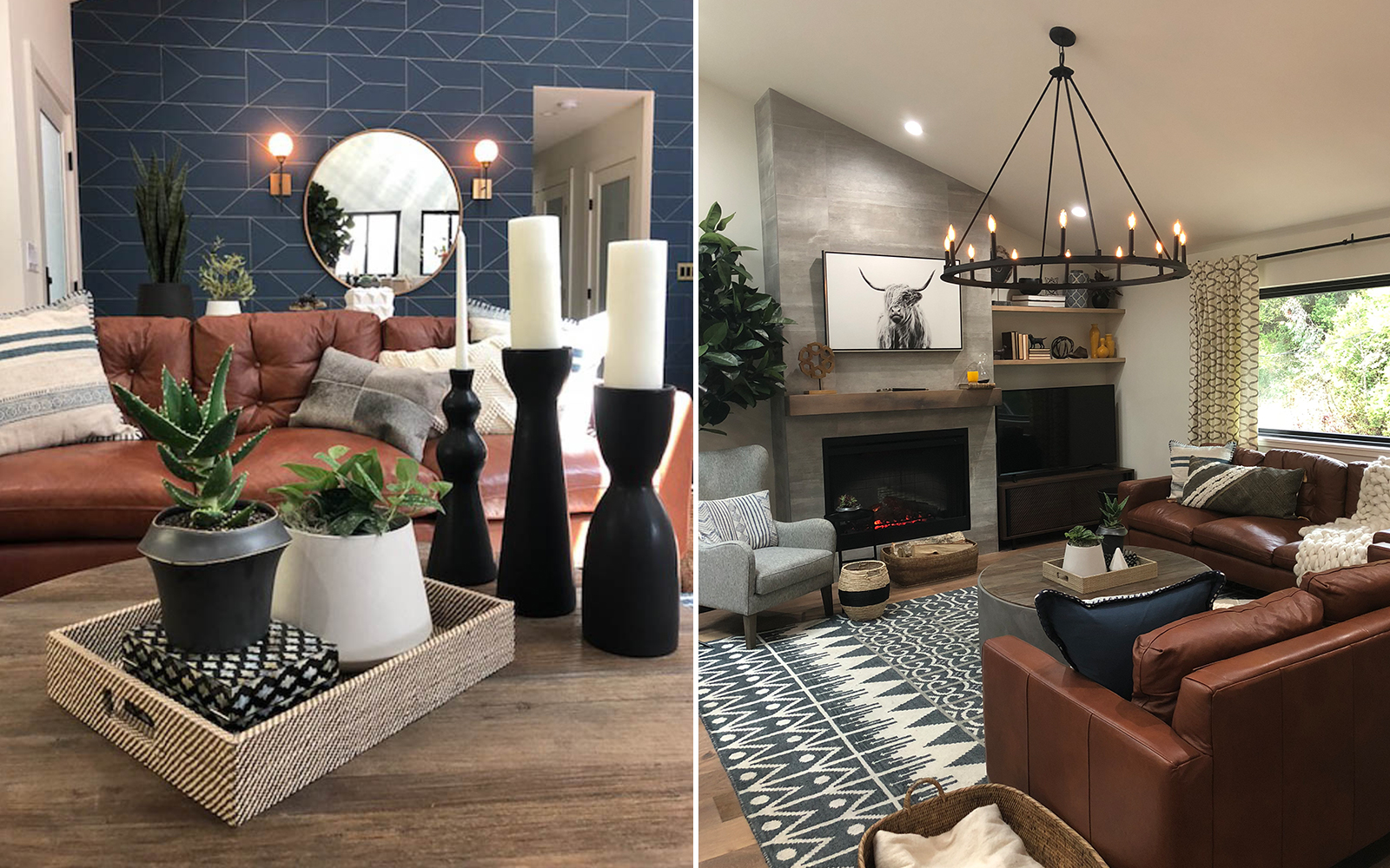 A styled living room for season 6 of Brother vs Brother.