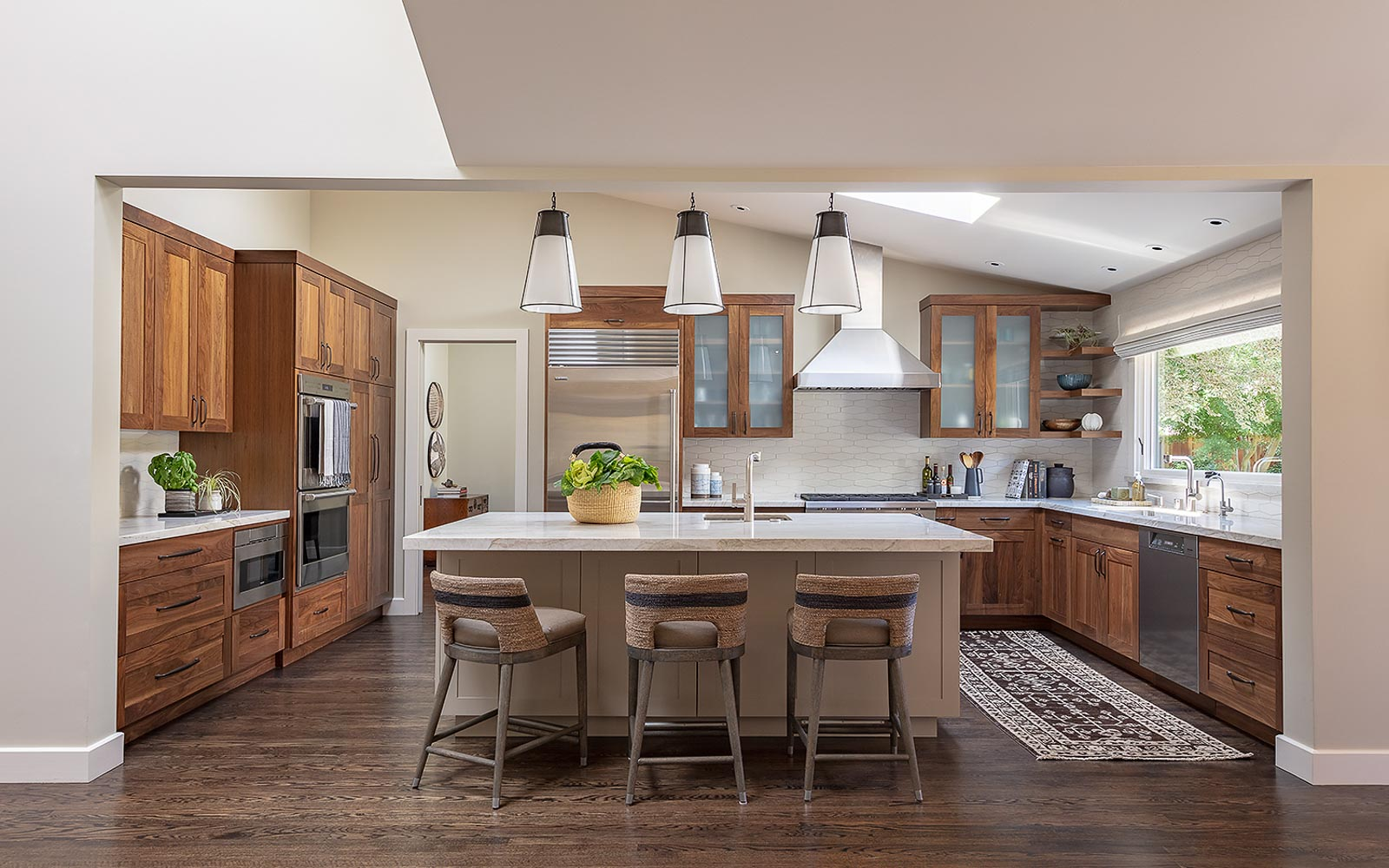 Kitchen remodel and interior design, ranch-style home, Lafayette, by LMB Interiors