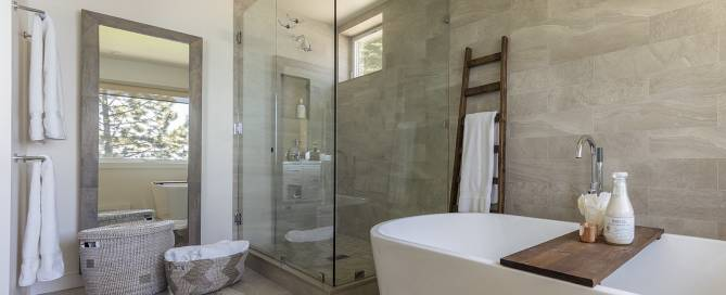 custom designed bathroom in Lake Tahoe Vacation Home