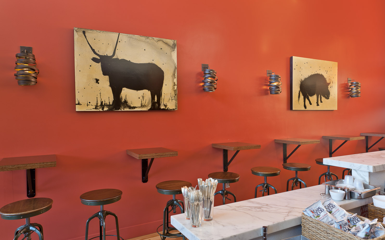 Art and Sandwiches at Southie - design by LMB Interiors