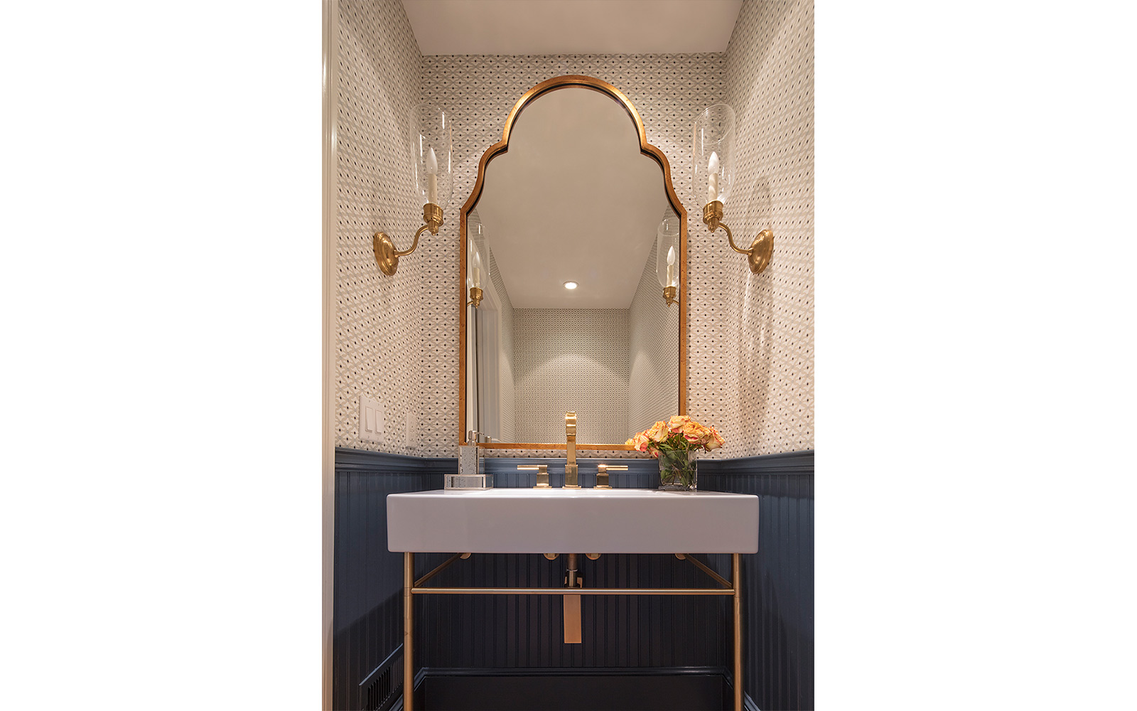 Moroccan Theme Powder Room Ranch Style Home Hillsborough